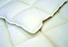 Merinowolle Unterbett (Tricot-Baumwoll Bezug)