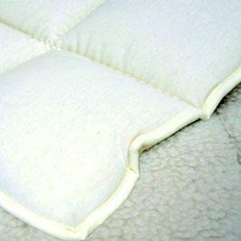 Merinowolle Unterbett (Tricot-Baumwolle-Lamm Bezug)