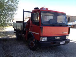 AUTOCARRO FIAT 95-14 con gru e cassone ribaltabile