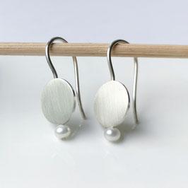 Ohrhänger Scheibe mit Perle