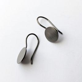 Ohrhänger Scheibe, schwarz