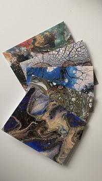 Künstler-Grußkarten - Set 3