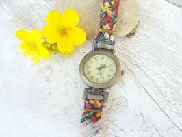 Montre bracelet Liberty marine, rouge et jaune