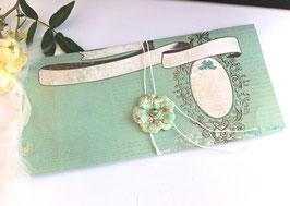 Pochette cadeau vert rétro vintage