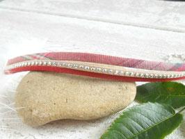 Bracelet liberty écossais rouille rouge