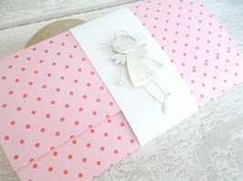 Pochette pour cadeau fille / enfant rose