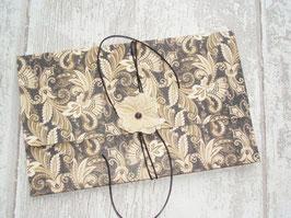 """Pochette pour """"bon cadeaux"""" avec lien en cuir - style rétro"""