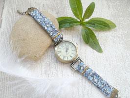 Montre bleue bracelet liberty