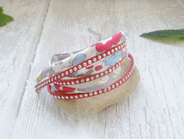 Bracelet multi-rangs rouge