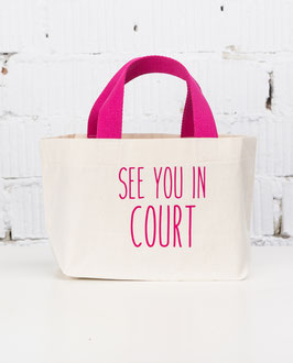 BGB Tasche SEE YOU IN COURT pink