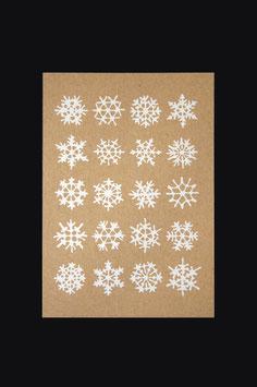 Postkarte - 20 Schneeflocken