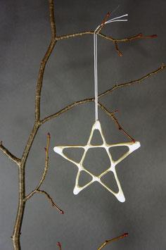 fünfzackige Sterne, weiß-golden