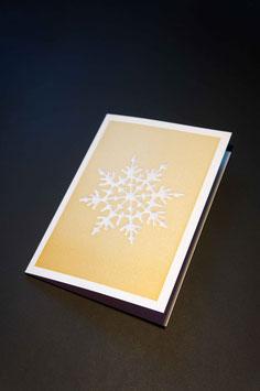Klappkarte   Schneeflocke