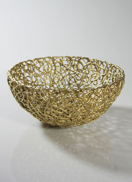 Kordelporzellan - Schale golden
