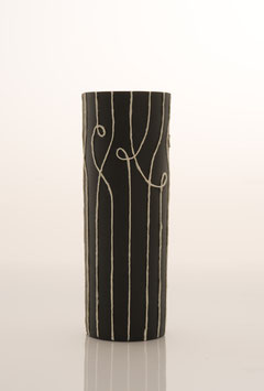 Nadelstreifen Vase schwarz