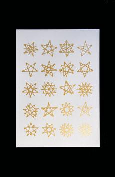 Postkarte - 40 Sterne