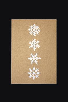 Postkarte - 4 Schneeflocken