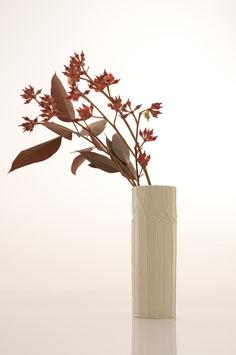 Nadelstreifen Vase elfenbein