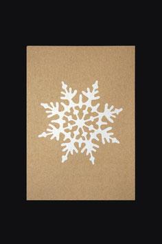 Postkarte - Schneeflocke