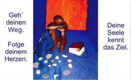 Maxipostkarte mit dem Titel Gedanke