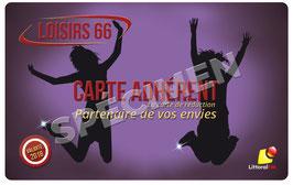 CARTE LOISIRS 66 - Validité 2018