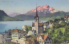 Postkarte Weggis mit Pilatus