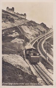 Postkarte Küssnacht Rigibahn und Hotel Kulm