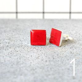 Leiterplatte Manschettenknöpfe eckig rot