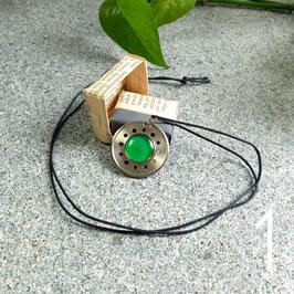 Abschlussring Halskette mit grüner Leiterplatte