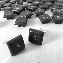 Tastatur Manschettenknöpfe dunkelgrau