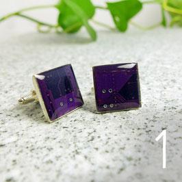 Leiterplatte Manschettenknöpfe eckig violett
