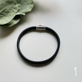 Bunte Kabel Armband schwarz/weiß/grau
