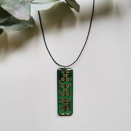 Leiterplatten Halskette mit Resin grün 2