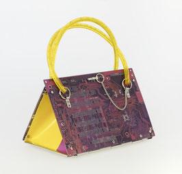 Leiterplatten Tasche lila/gelb