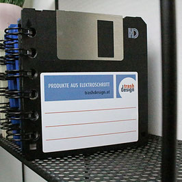 3,5'' Diskette Notizbuch