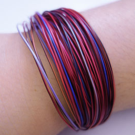 Bunte Drähte Armbänder H/W rubin