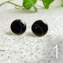 Leiterplatte Manschettenknöpfe rund schwarz