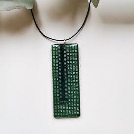 Leiterplatten Halskette mit Resin grün 3