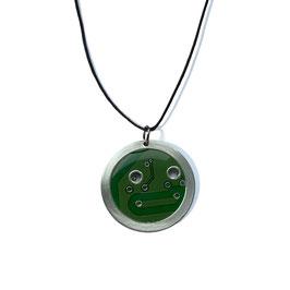 Distanzring Halskette mit grüner Leiterplatte 1