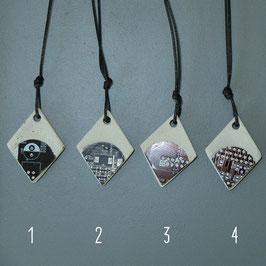 Beton/Leiterplatte Halskette diverse Farben