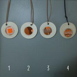 Beton/Leiterplatte Halskette rund