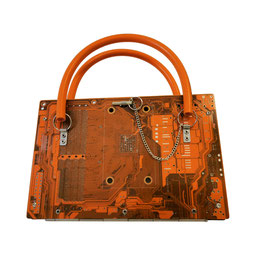 Leiterplatten Handtasche orange