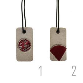 Beton/Leiterplatte Halskette rechteckig