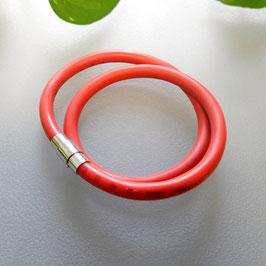 Bunte Kabel Doppelarmband  rot