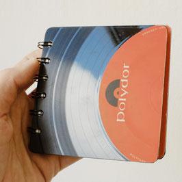 Schallplatte Notizbuch quadrat