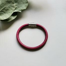 Bunte Kabel Armband magenta