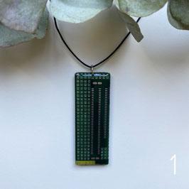 Leiterplatten Halskette mit Resin grün 4