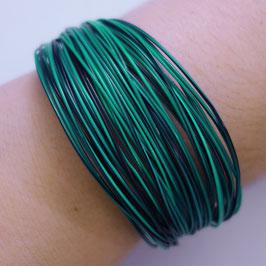 Bunte Drähte Armbänder H/W dunkelgrün