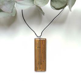 Leiterplatten Halskette mit Resin senf/braun 3