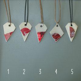 Beton/Leiterplatte Halskette rot